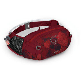 Osprey Seral 4 Hydration Waist Pack with Reservoir, claret red